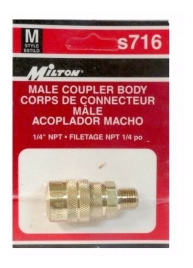 Cople Rapido-macho Npt 1/4 Inch  M  Milton