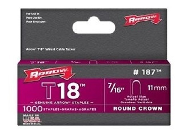 Grapa Para T18 7/16 Pulgadas Con 1000 Piezas Arrow