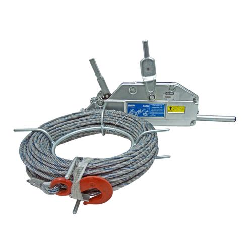 Tirfor Aparejo Para Hamacas y Andamios 500 Kilos Con Cable 80 Metros 8,3 mm A8AG 0780044/80 Alba