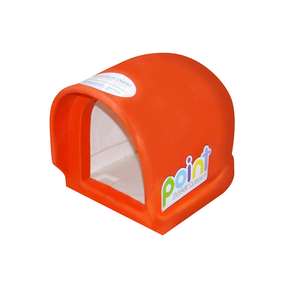 Casa Para Perro Mini Point Naranja Doggy House