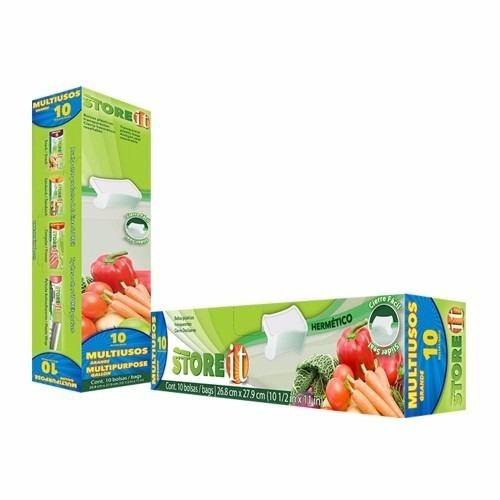 Bolsa Multiuso Grande 26.8 X 27.9 Cm 10 Pzas 82005 Store It