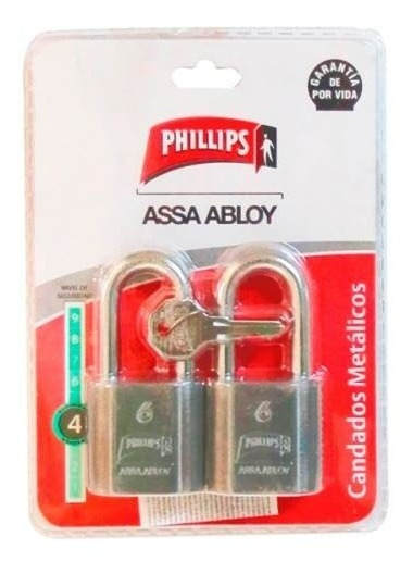 Candado Metal 40 Mm Gris Gemelo 1499 Bp Phillips