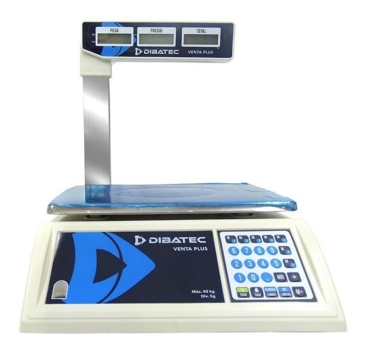 Báscula Comercial Digital Dibatec Venta Plus 40kg Con Mástil 110v