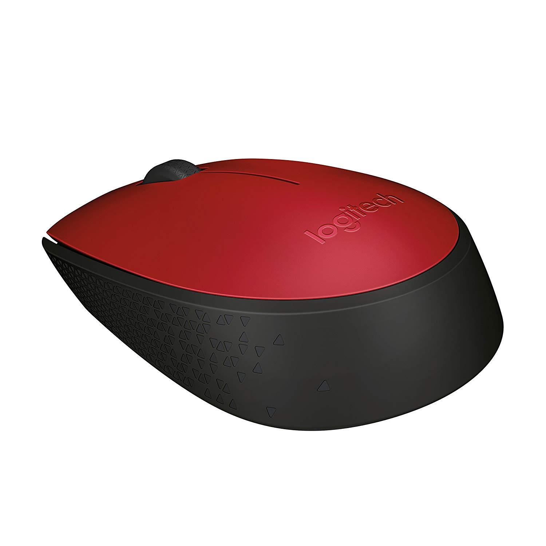 Mouse M170 Logitech Rojo Diestro y Zurdo Inalambrico
