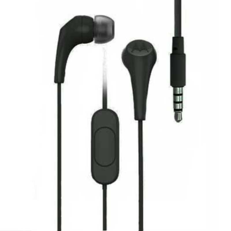 Audifonos 3.5 Con Microfono Motorola Earbuds 2 Negro