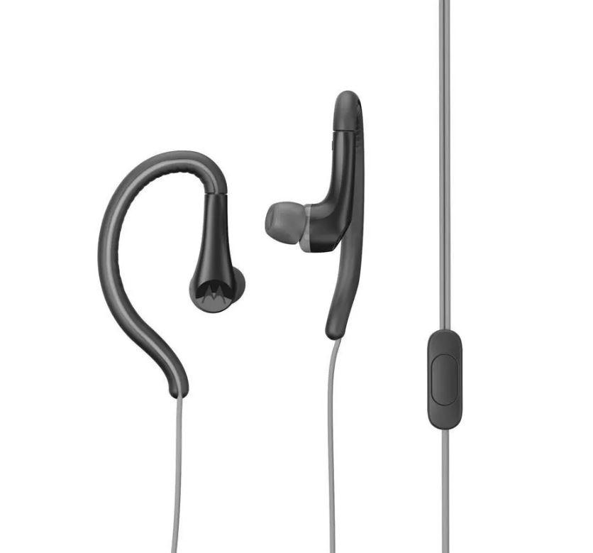 Audifonos 3.5 Con Microfono  Motorola Earbuds Sport Negro