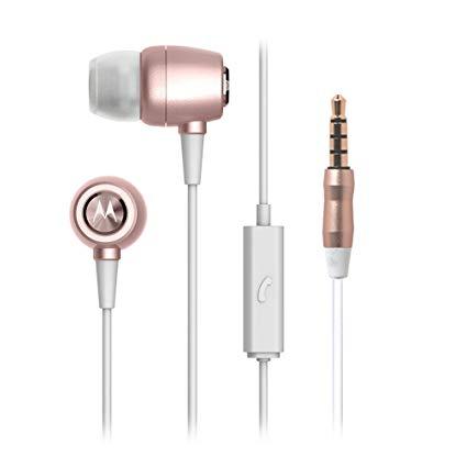 Audifonos 3.5 Con Microfono  Motorola Earbuds Metal Rose Gold