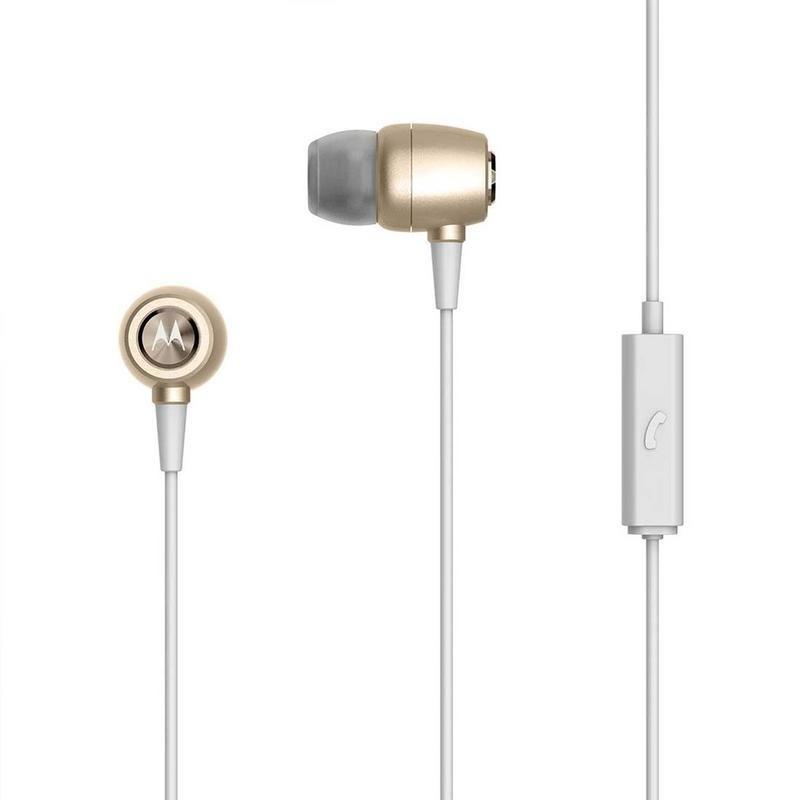 Audifonos 3.5 Con Microfono  Motorola Earbuds Metal Gold