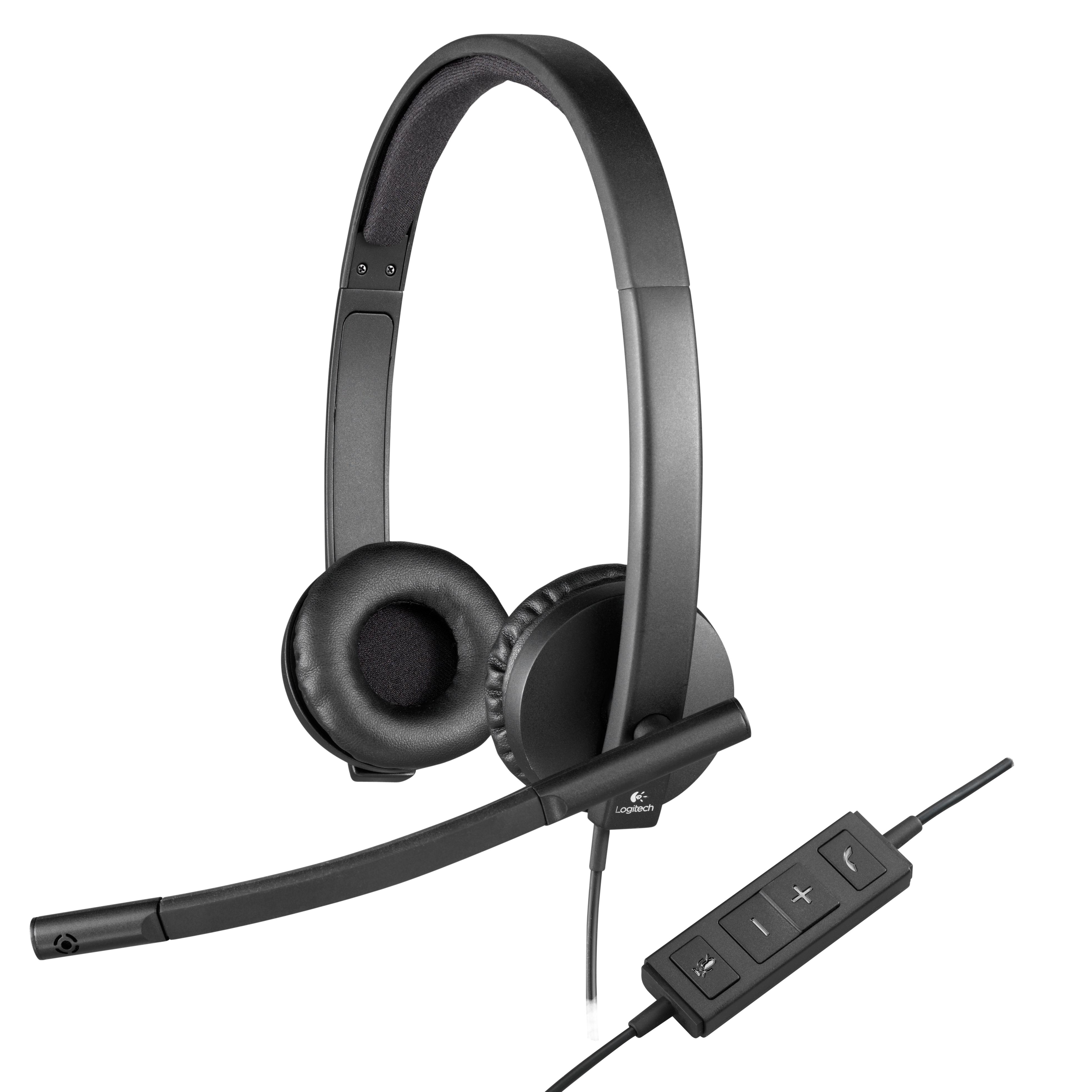 USB Diadema Logitech - Auricular - En Oreja - Cableado
