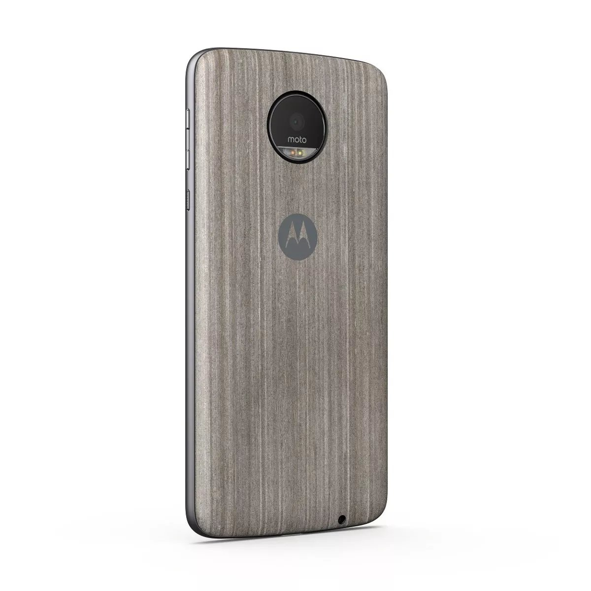 Moto Mods Shell Color Madera Grisobscuro Para Moto Z