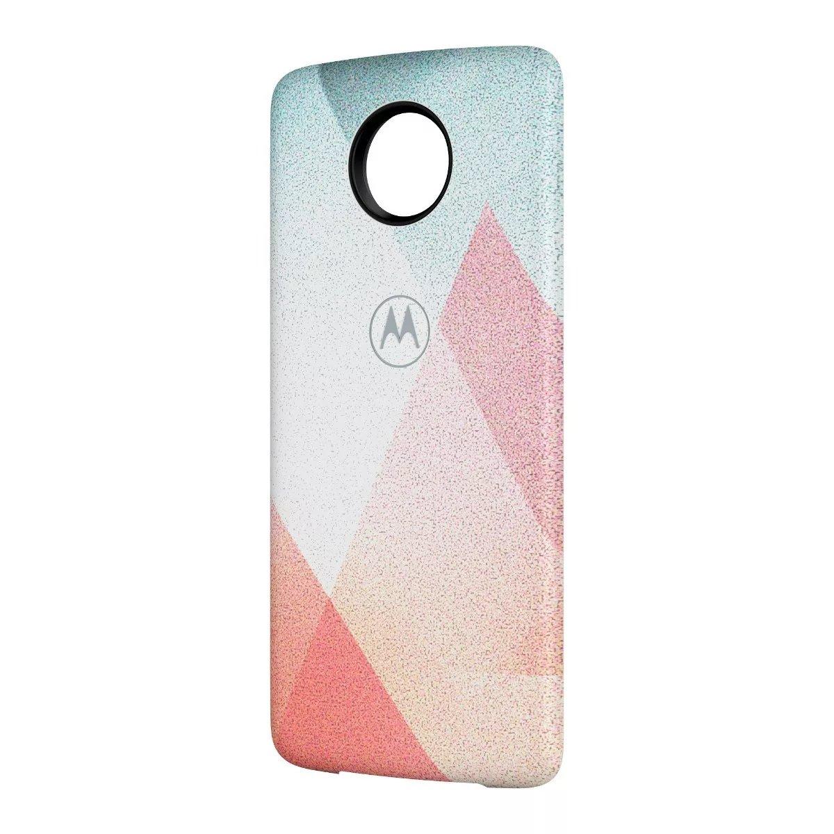 Moto Mod Motorola Bateria Con Diseño De Triangulos