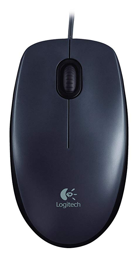 Mouse Logitech  - Wired - USB - Black m90