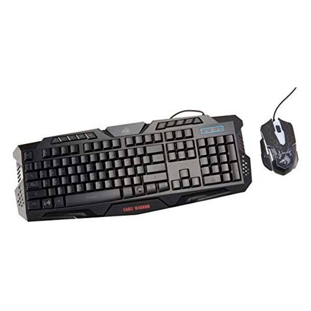 Kit Teclado/Mouse Eagle Warrior G79+G16 /alámbrico/USB/pc/gamer