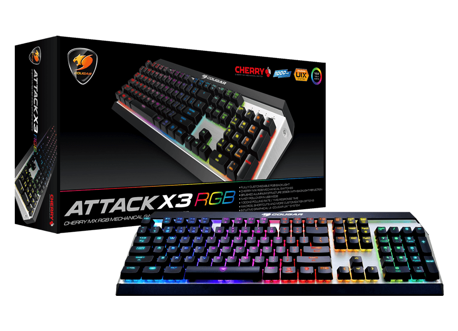 Teclado Cougar Attack X3 RGB/Brown Switch