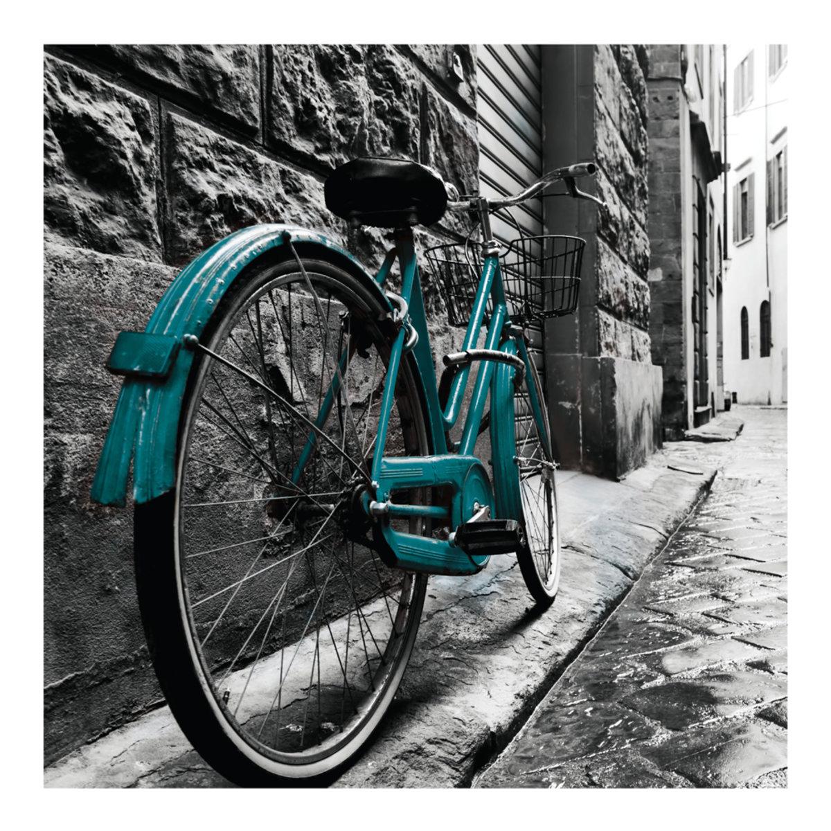 Cuadro Decorativo  Bicicleta P40X40 1 Pieza Crown Baccara