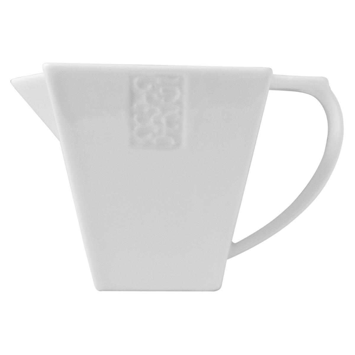 Cremera Cuadrada Moderno Porcelana 80 ml Crown Baccara