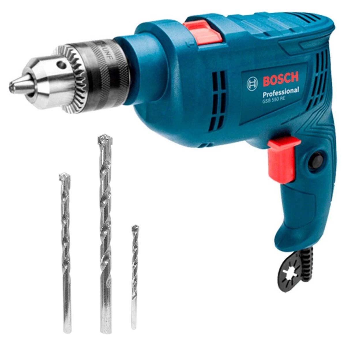 Rotomartillo 550w 127v + 3 Accesorios Gsb 550 Re Bosch
