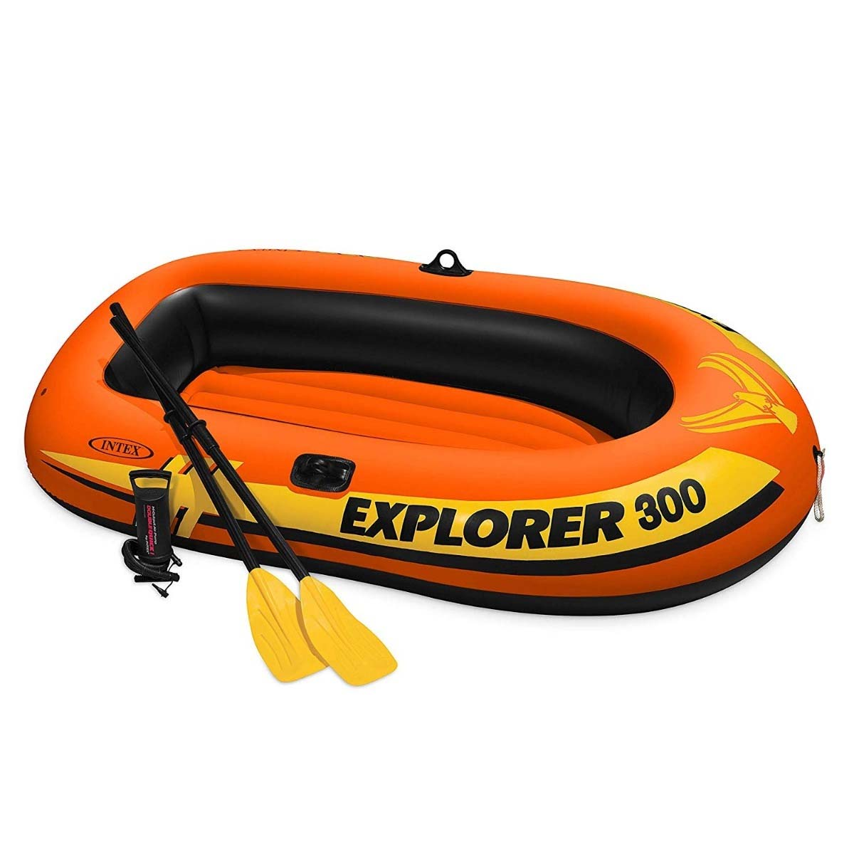 Lancha Inflable Explorer 300 Remos + Bomba 58332NP Rio Intex