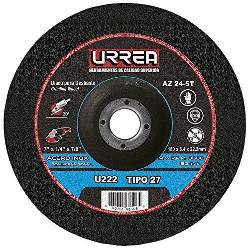 """Disco T/27 Inox7X1/4X7/8""""M/Pes U222 Urrea"""