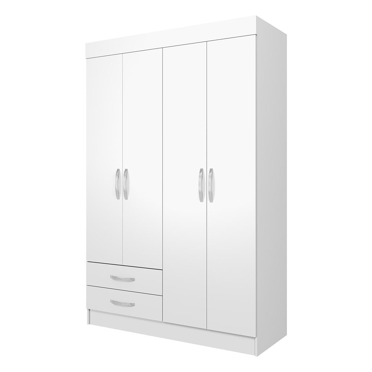 Ropero Closet Armario Mueble Moderno 4 Puertas 2Cajones Casa