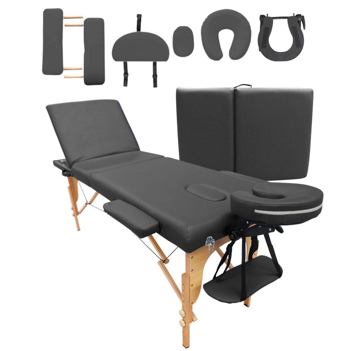 Cama Masaje Plegable 3 Secciones + Bolsa Spa Terapia Tatuaje