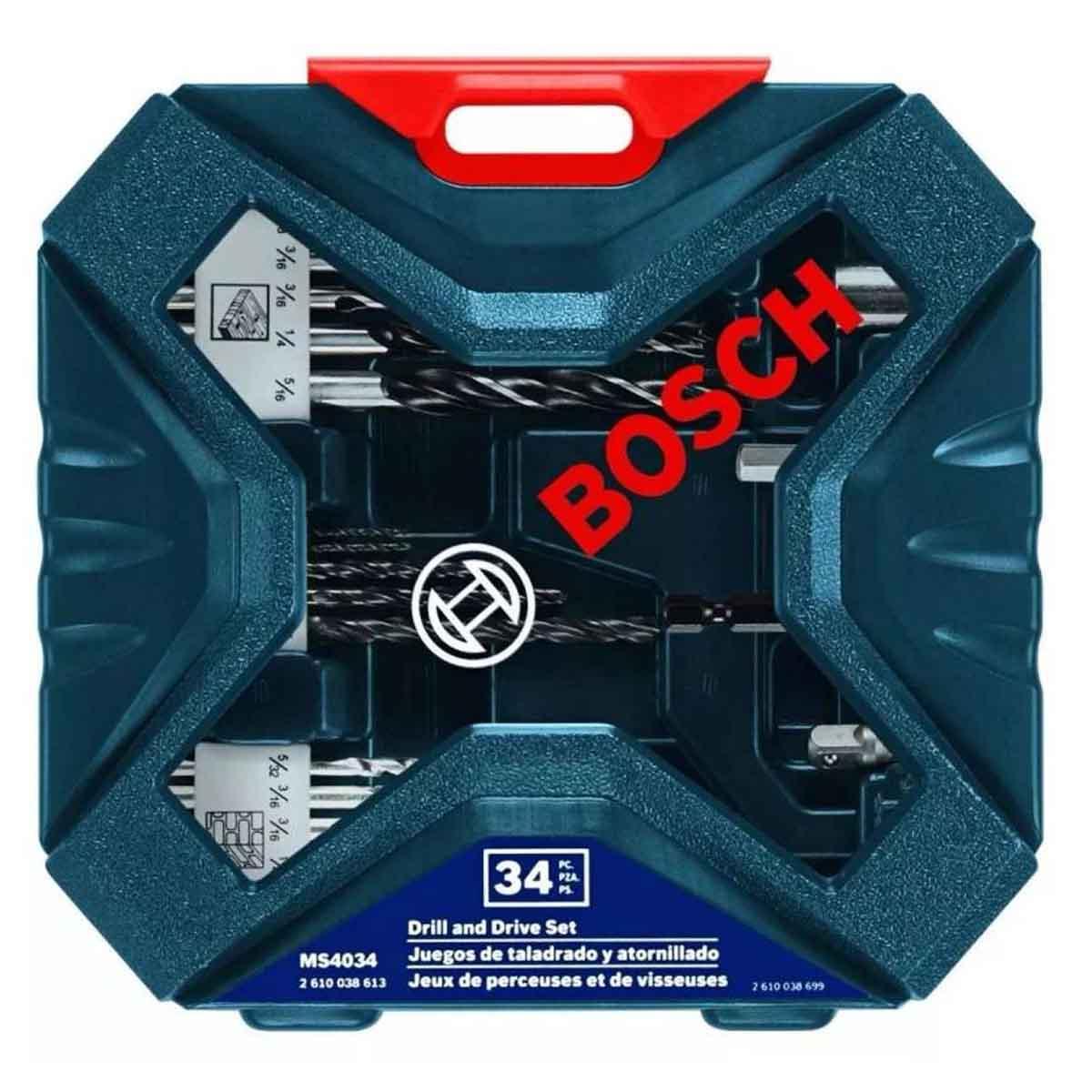 Set Kit Brocas Taladro Ideal En Metal X-line 34 Pzas Bosch
