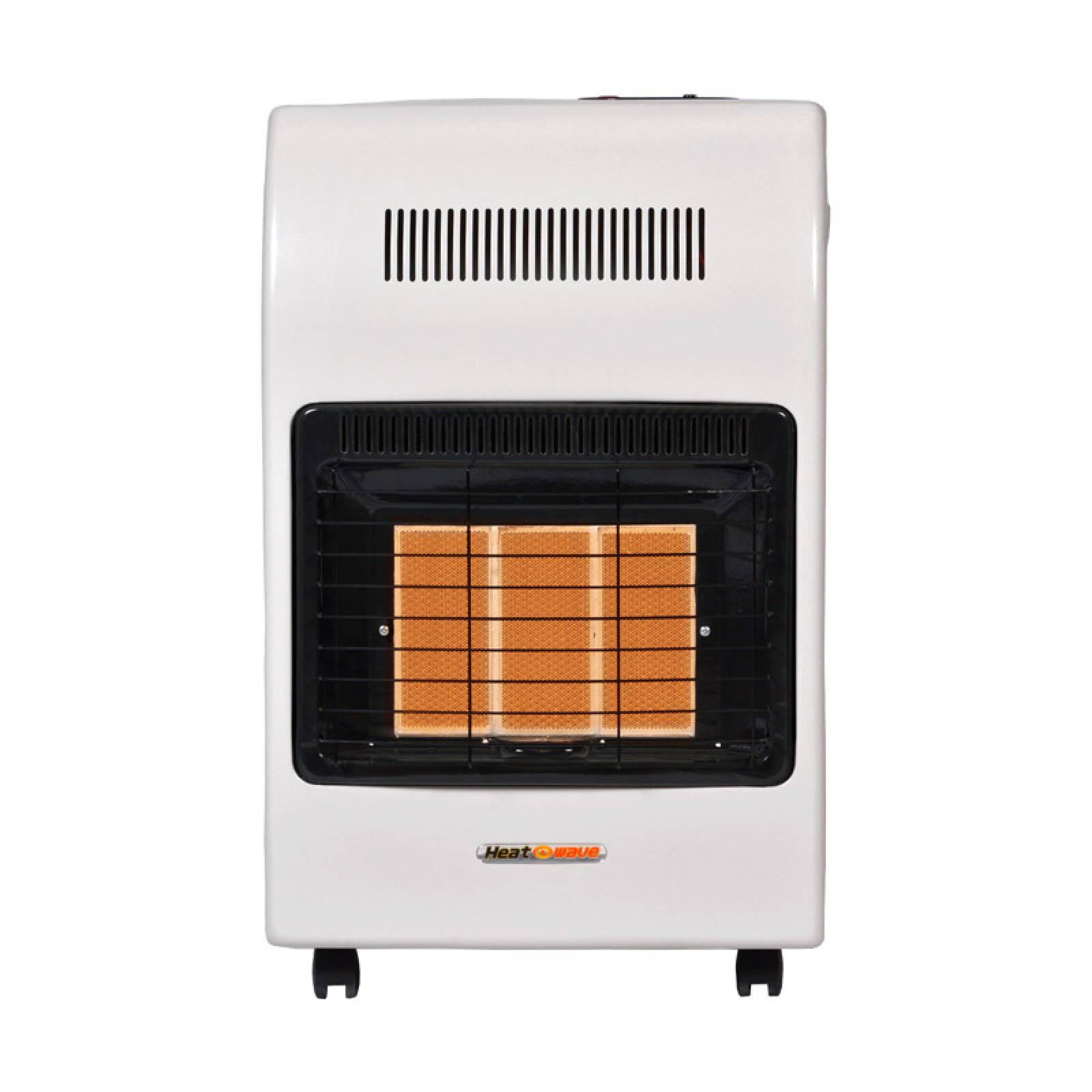 Calefactor Gas LP 3 Radiantes Blanco HG3X Heat Wave