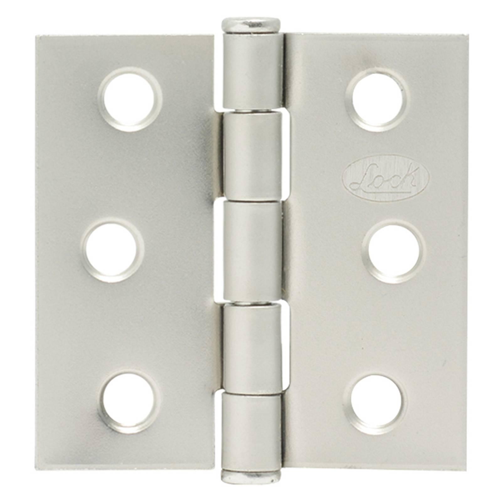 "Bisagra Cuadrada Satinado 2.5""  LBC25S Lock"
