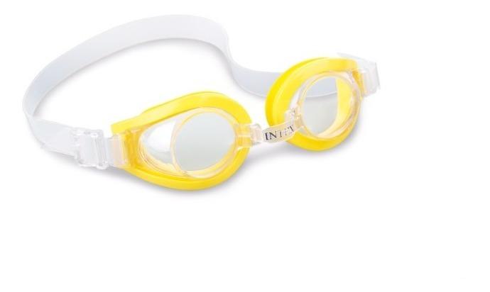 Goggles Clásicos Para Natacion Infantiles Amarillos Intex