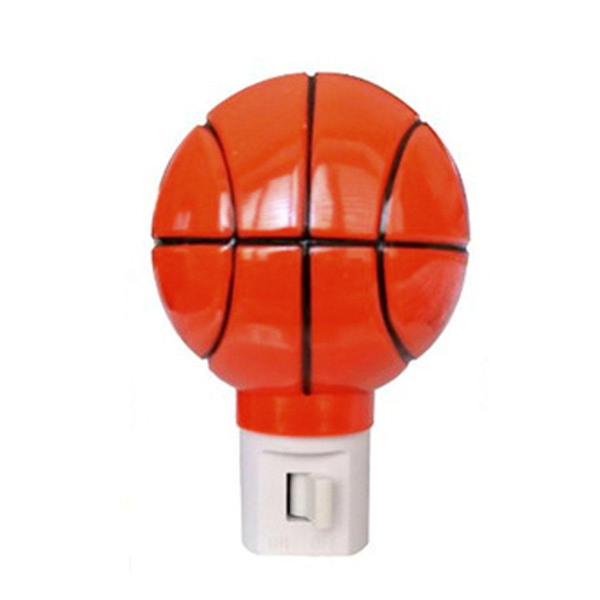 Lampara Luz De Noche Balon Pelota Basketball Niños Hogar Foy