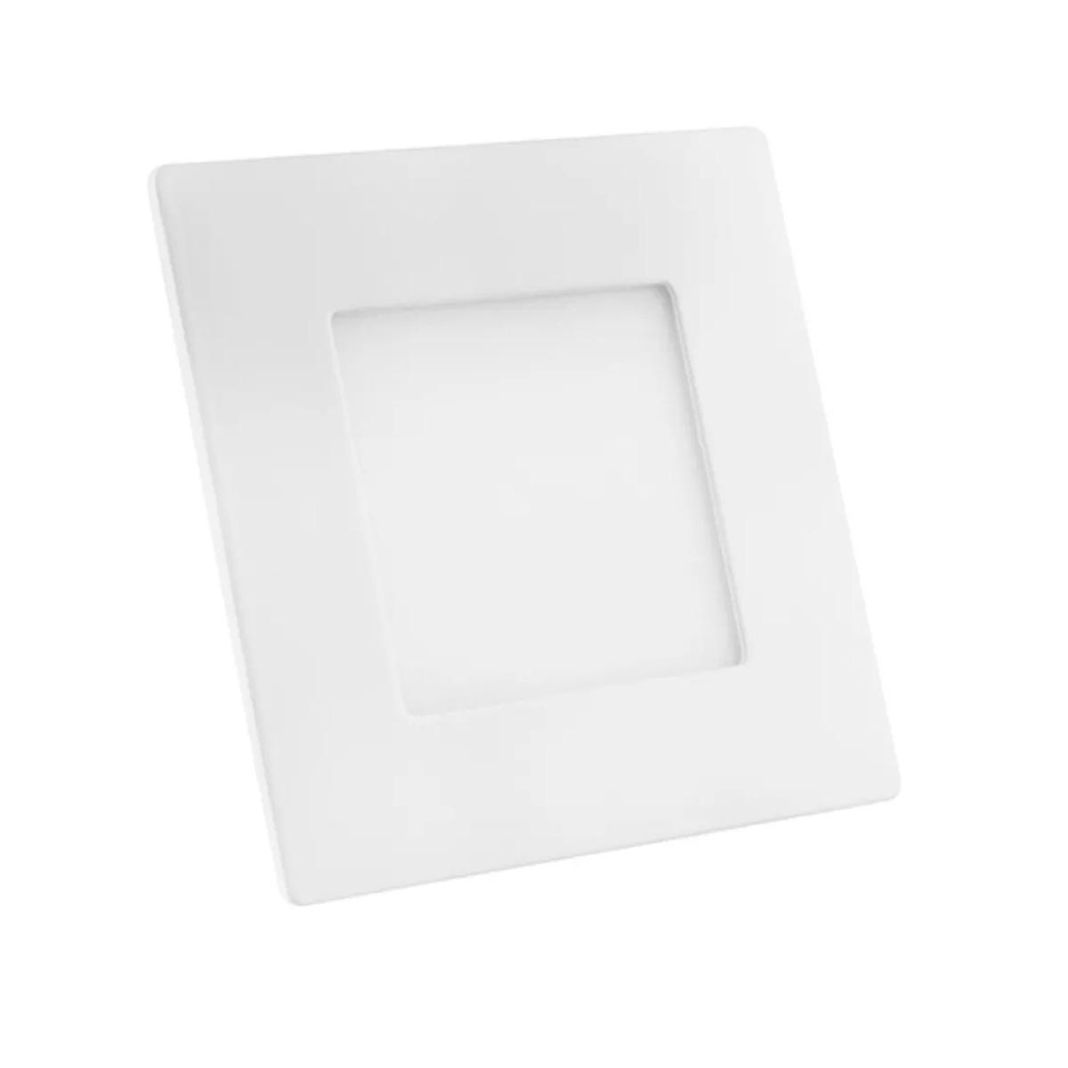 Foco Luminario Led Cuadrado Fijo Luz Blanca 6 W 618092 Iusa