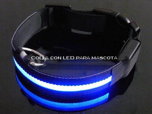 Correa Para Perro Con Led Cuello De 40 A 48 Cm Var, Colores