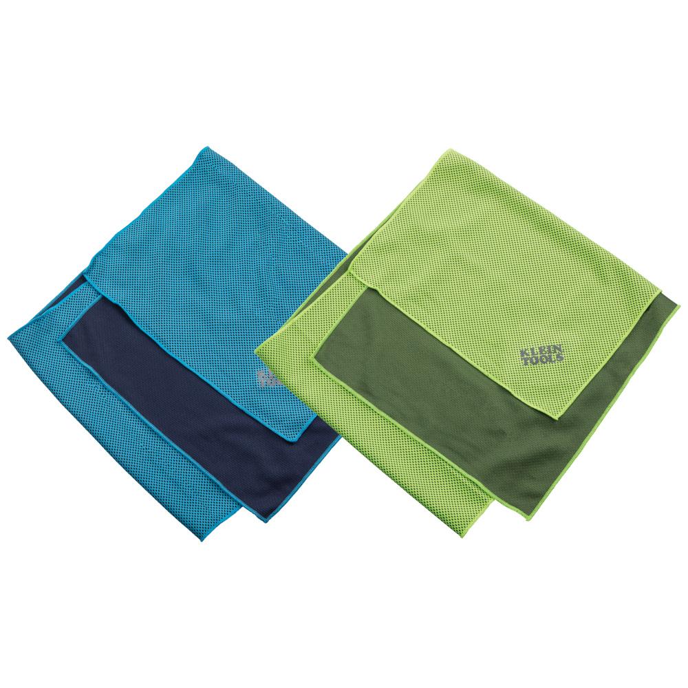 Toalla Refrescante Con Malla Azul Verde 24×99 Cm Klein Tools
