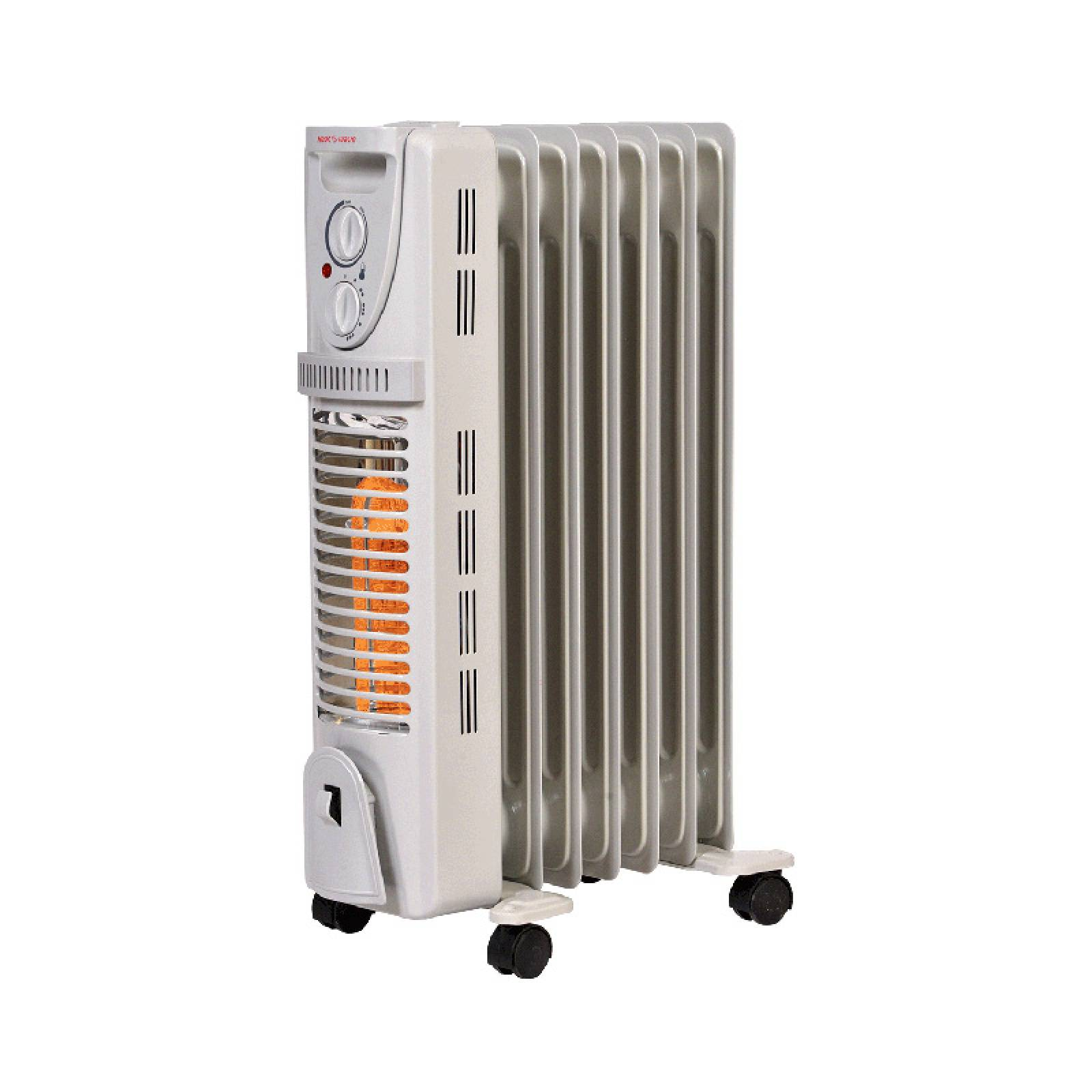 Calentador Calefactor Elect y Halogeno 2 en 1 Heat Wave