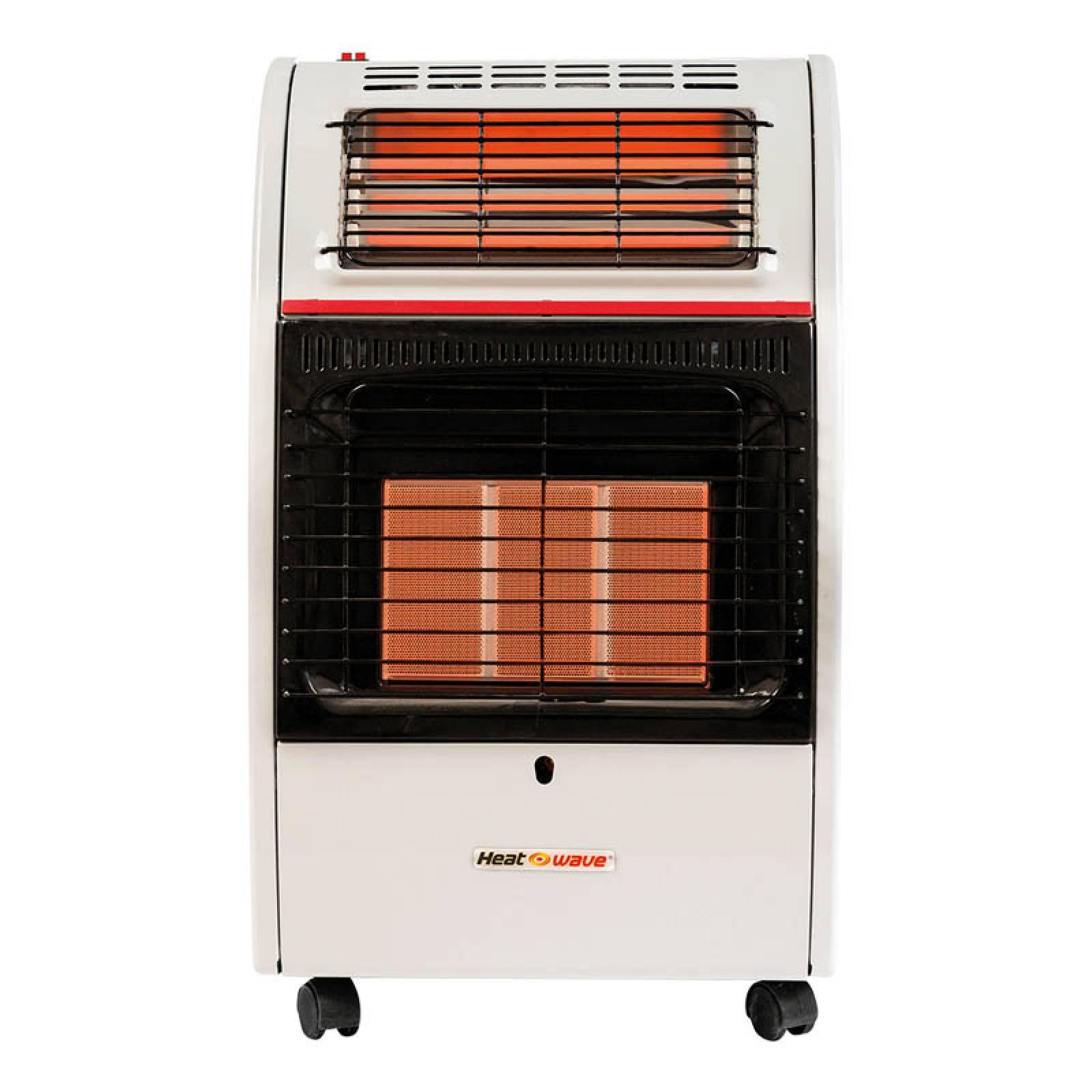 Calefactor Portatil 2 en 1 Gas LP 3 Radiantes Heat Wave