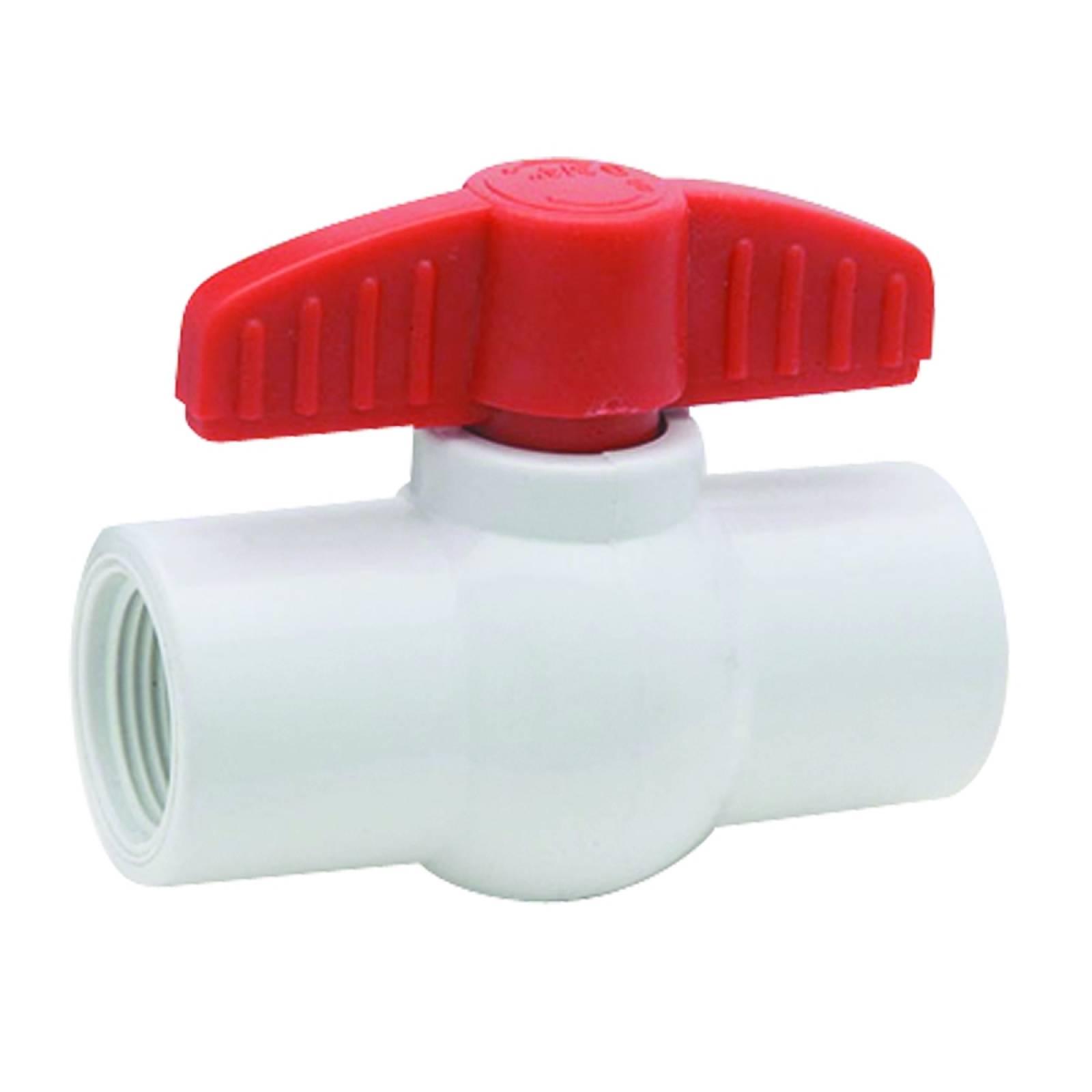 Válvula de esfera en PVC roscable 3/4in 4570.19 DICA