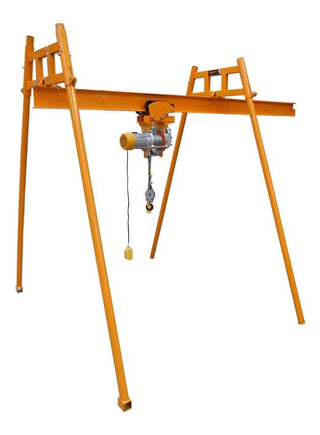 Grua Construccion 4 Movimientos Con Riel + Polipasto 500 Kg