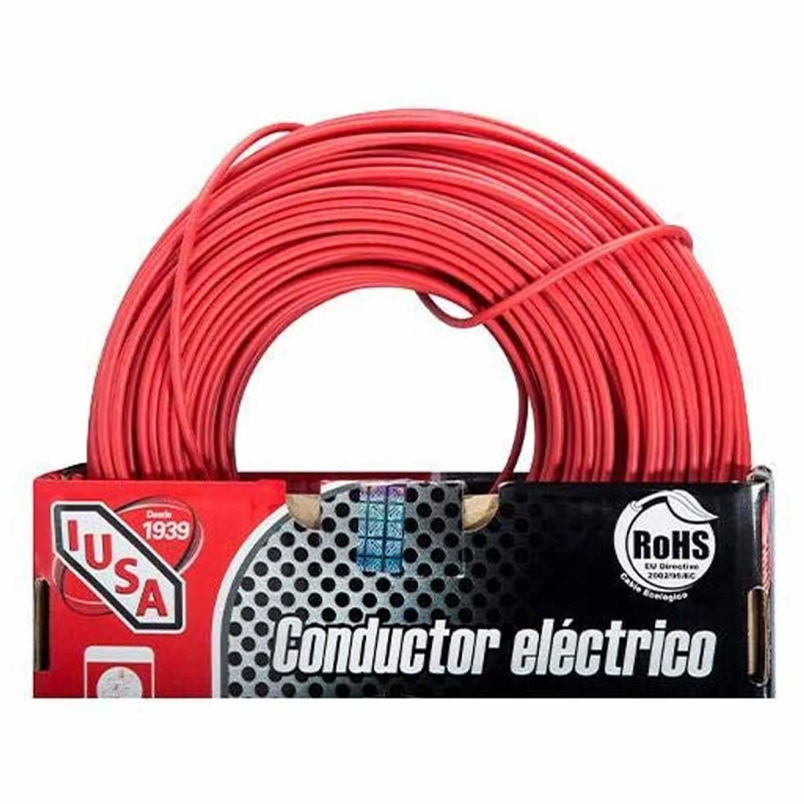 Cable De Cobre Con Aislamiento Rojo 12 Awg 100 M 399330 Iusa