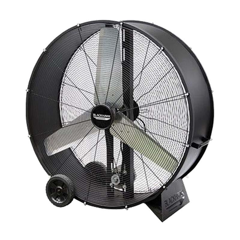 """Ventilador Industrial Tipo Tambor 42"""" Negro 2 Velocidades"""