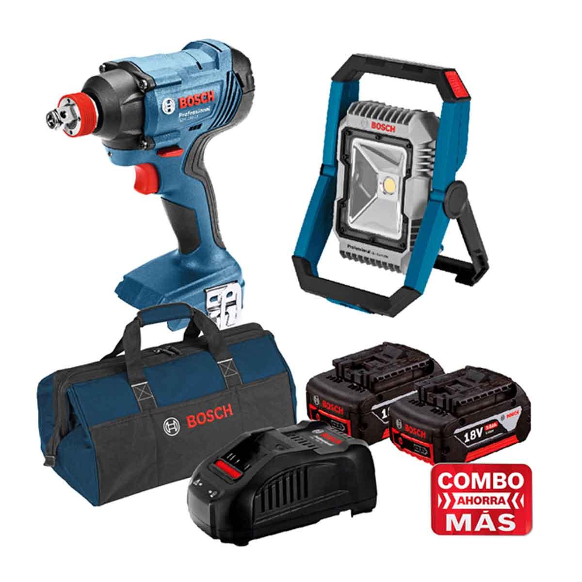 Taladro + Linterna + 2 Baterias + Cargador + Maleta Bosch