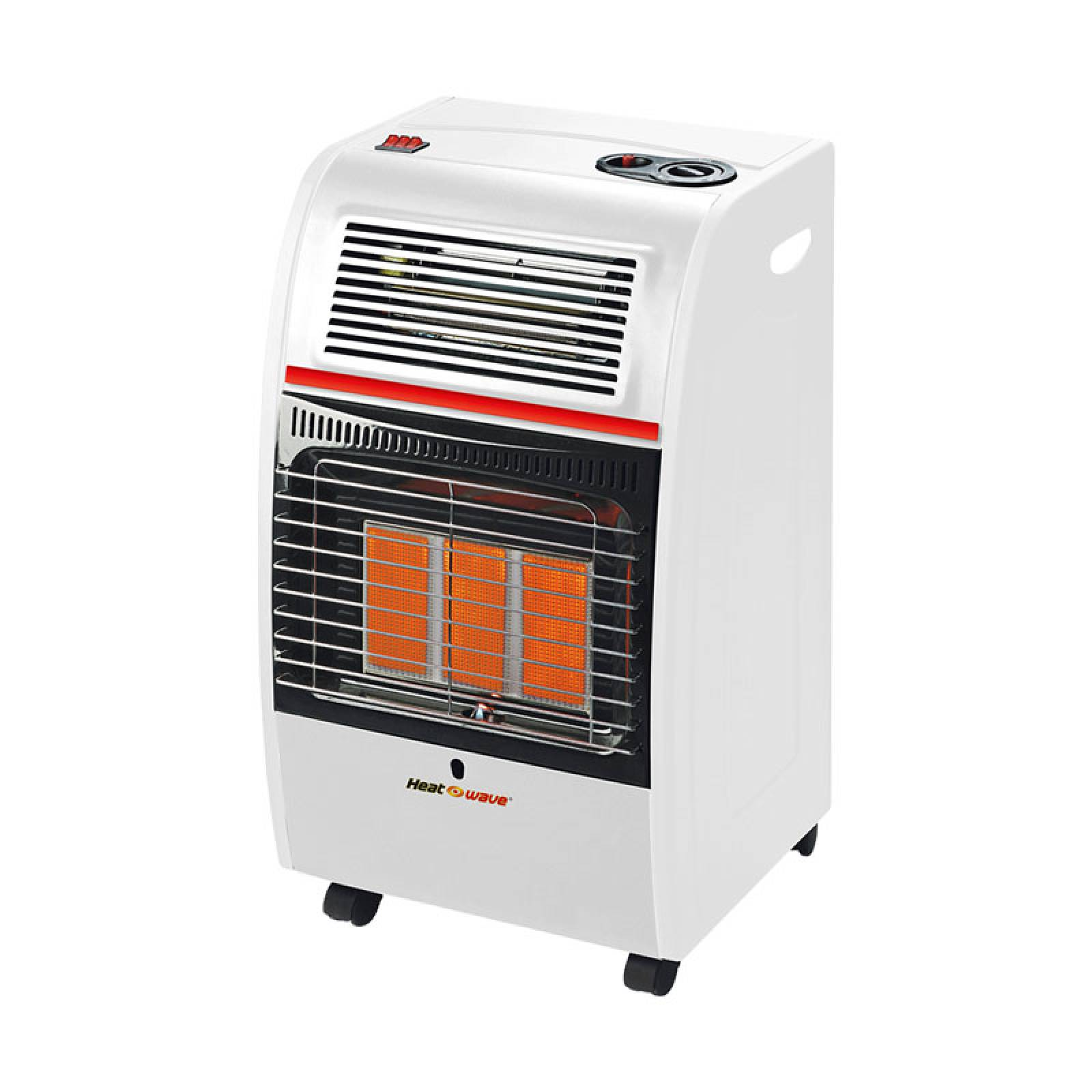 Calefactor 2 en 1 Gas LP 3 Radiantes Turbo HG3RF Heat Wave
