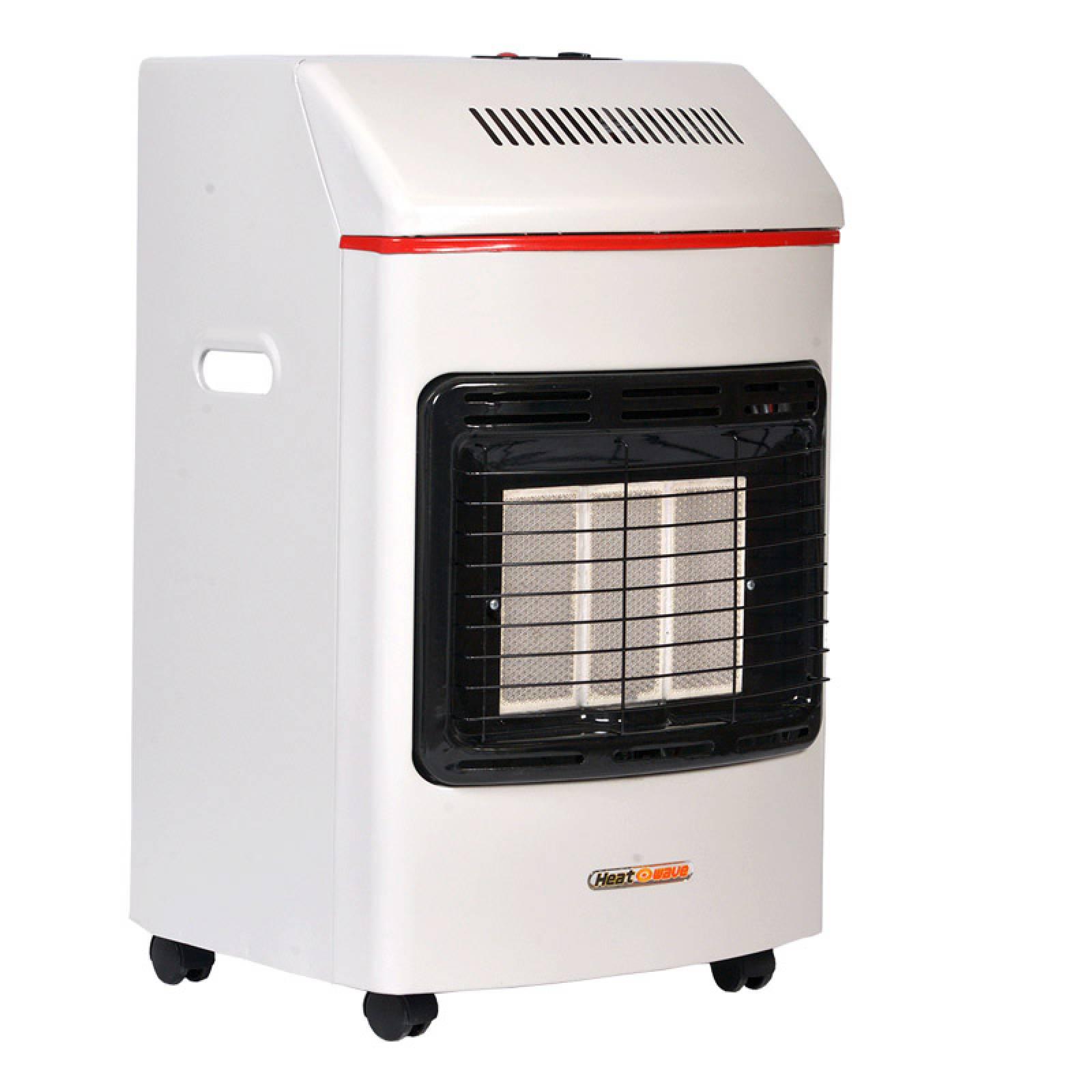 Calefactor Portatil Gas LP 3 Radiantes Blanco Heat Wave