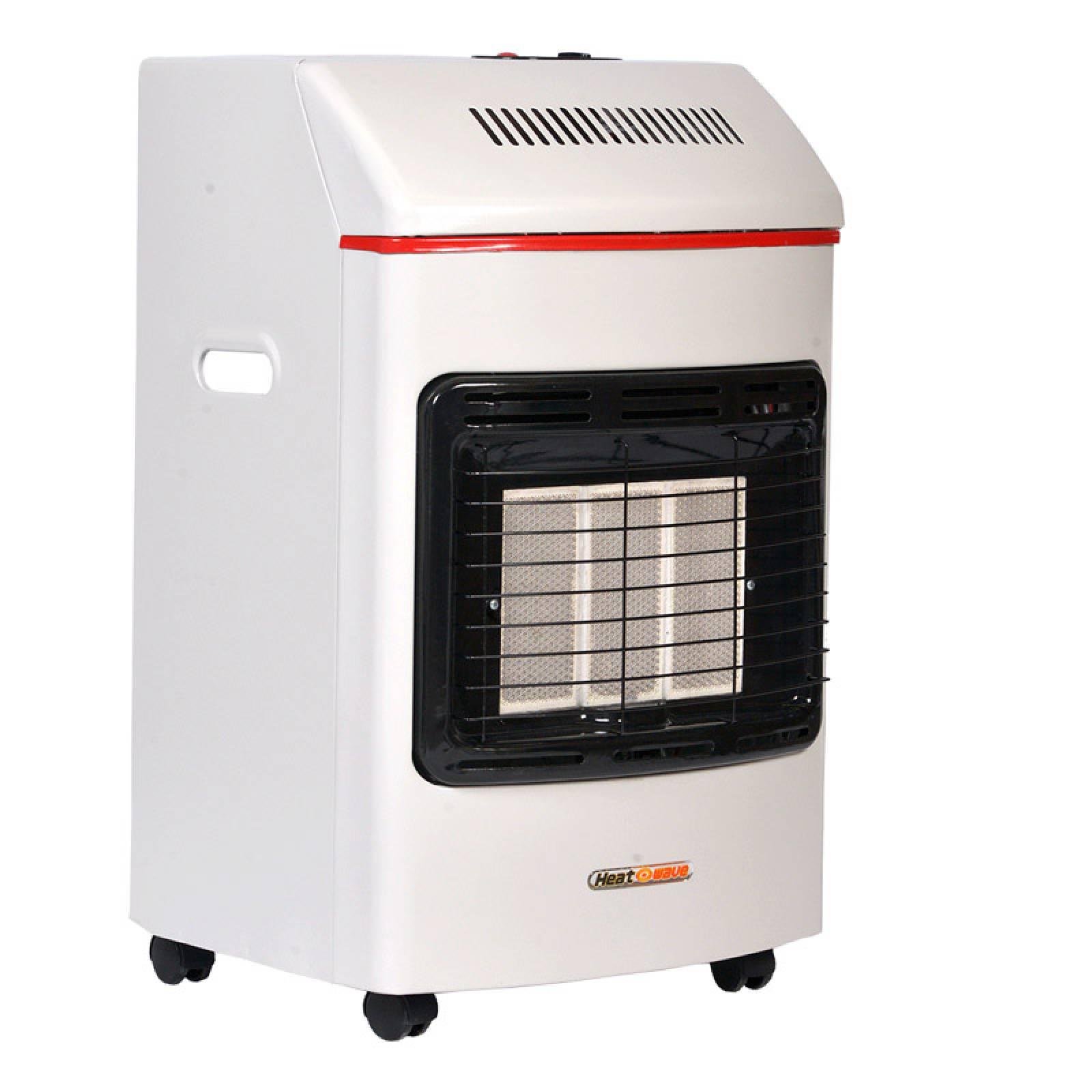 Calefactor Portatil Gas LP 3 Radiantes Blanco Heat Wave
