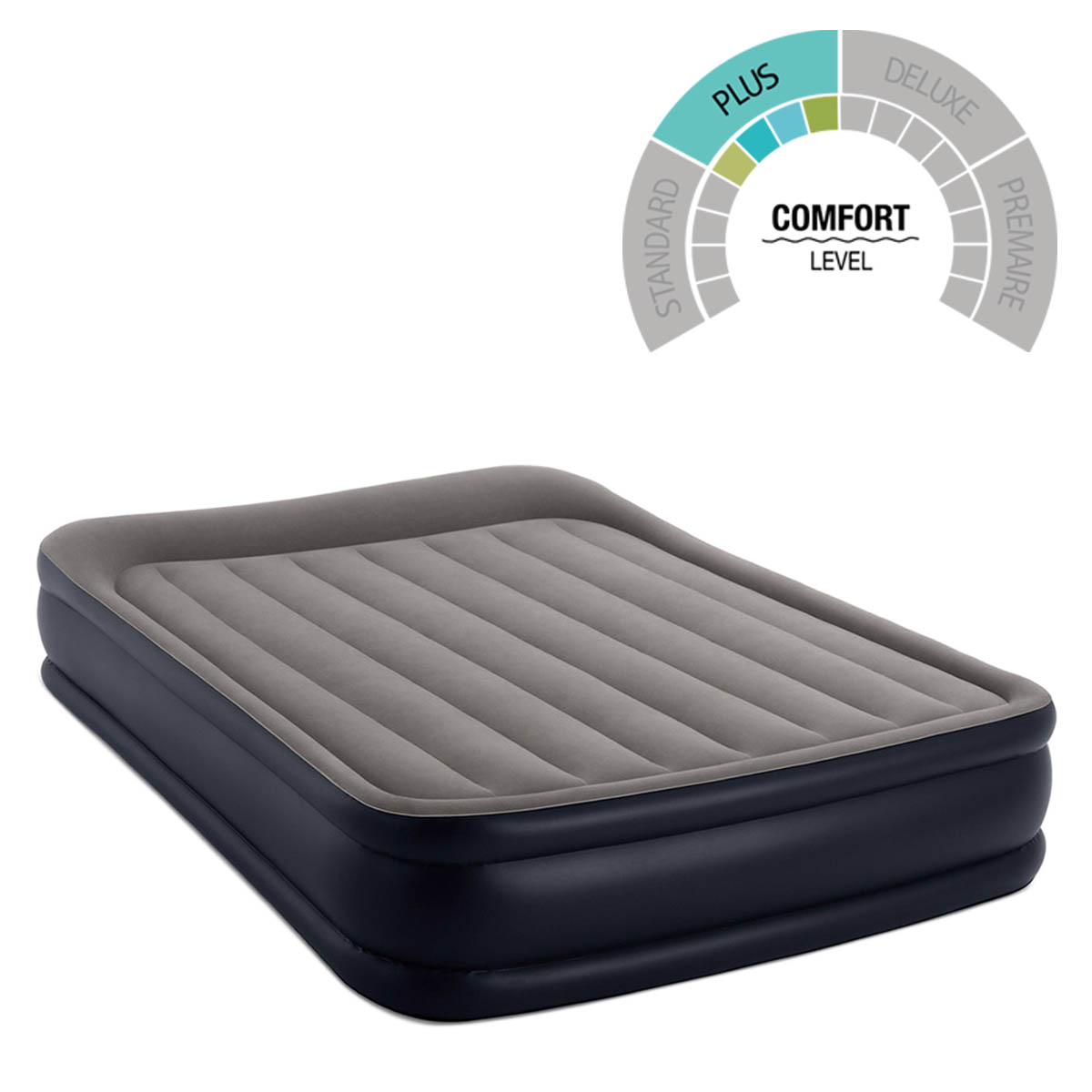 Colchon Inflable Queen Doble Altura + Bomba 64135EP Intex