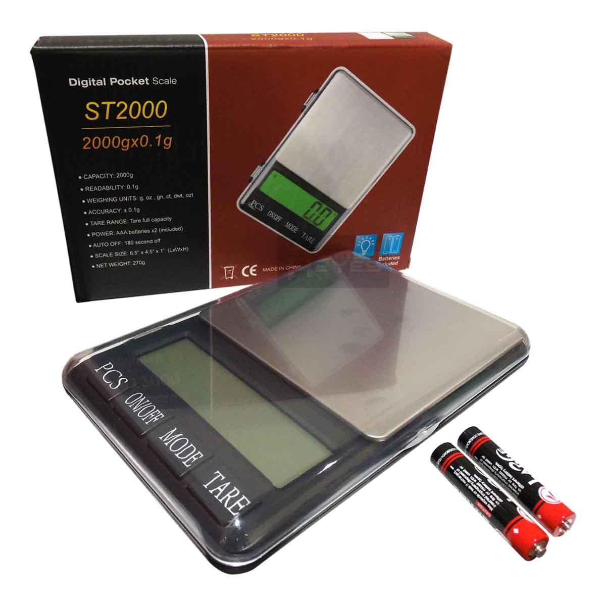 Bascula Lcd Compacta Digital 2 Kg a 0.1 Gr De Pilas ST OBI