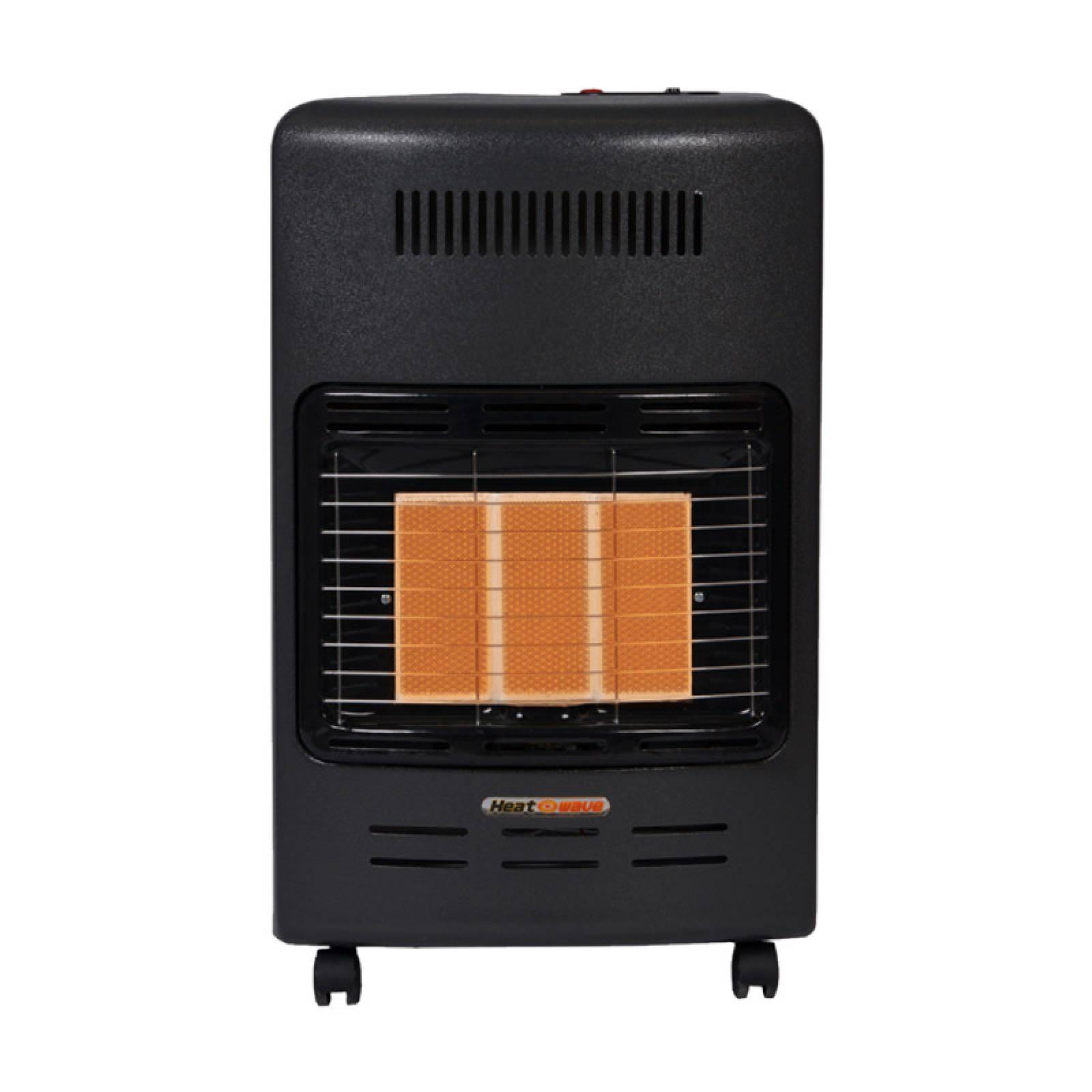 Calefactor Gas LP 3 Radiantes Gris Obscuro HG3M Heat Wave