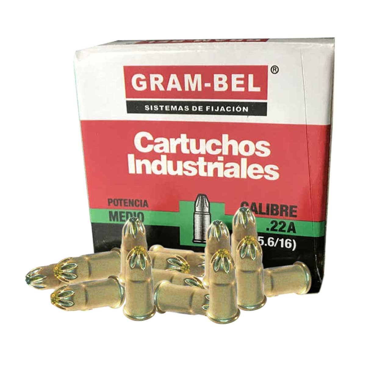 Cartucho Verde Cal 22 100 Pzs De Pistola Impacto Gram-Bel