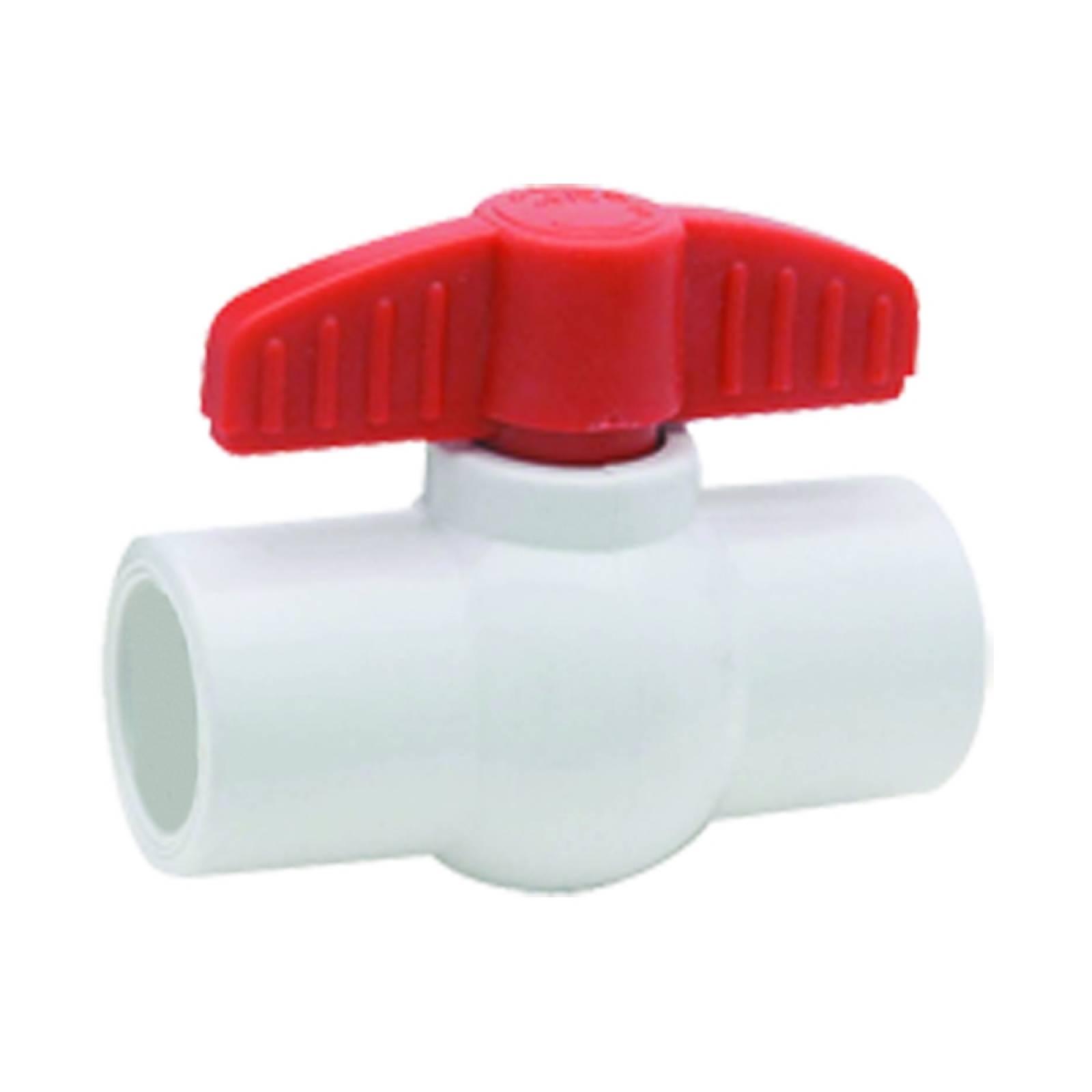 Válvula de esfera en PVC cementar 3/4in 4577.19 DICA