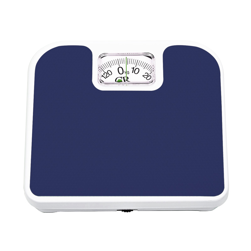 Bascula de Baño Cuadrada Analoga 130 Kg Azul Personal