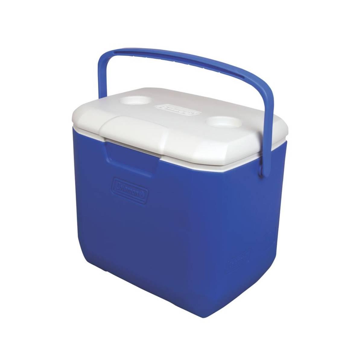 Hielera Azul 30 Qt Con Portavasos De Campismo Playa Coleman